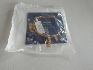 Gold Alex and Ani Christmas Holiday Toy Solider Nut Cracker Bracelet NWT