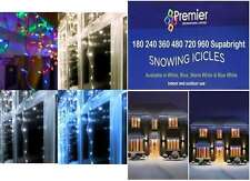 PREMIER LED Christmas Xmas Tree Lights Snowing Icicles  blue 480