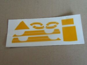 317O Decal Yellow Decal Board Decoration 14x6 CM 1:43