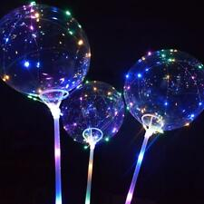 Led Ballon transparent klar 18 Zoll leuchtende Blase Weihnachten Home Dekoration