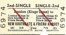 B.R.B. Edmondson Ticket - London Kings Cross to New Southgate & Friern Barnet