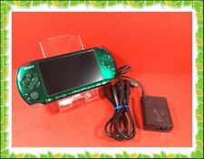 PSP 3000 Sony Limited Color protectseat Green  Console Used excellent charger
