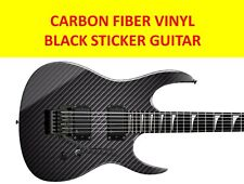 STICKER VINYL CARBON FIBER TO DECORATE GUITAR BODY TYPE STRATOCASTER & IBANEZ