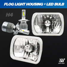 "7""X6"" inch Sealed Beam Headlight Conversion High/Low Beam+ 100W H4 Cree Led (Fits: Gmc Safari)"