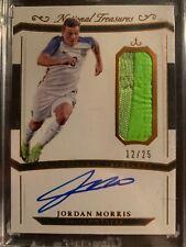 2018 National Treasures Soccer Jordan Morris Shoe Swatch Autograph 12/25 SSP USA