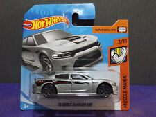 2018 Hot Wheels '15 DODGE CHARGER SRT in SILVER - HW Muscle Mania car. 3/10.