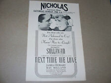 "1936 ""Next Time We Love"" & Laurel & Hardy Movie Herald Fairmont Minnesota"
