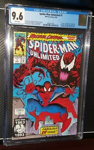 1993 Marvel Comics Spider-Man Unlimited #1 CGC 9.6 White Pages Maximum Carnage