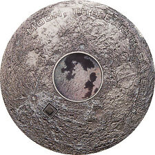 20$ 2017 Cook Islands - Meteorite - Moon Earth's Satellite 3oz
