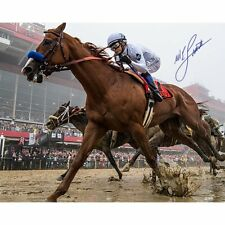 Mike Smith Autographed Signed Preakness 16x20 Photo Justify Jockey Steiner