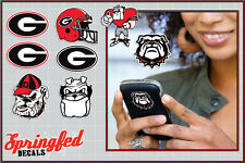 Georgia Bulldogs STICKERS SUPER COMBO 8 pack Vinyl Decals Car Truck iPhone UGA
