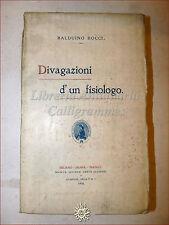 POESIA: Balduino Bocci, DIVAGAZIONI D'UN FISIOLOGO 1910 Dante Alighieri ritratto