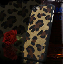 For iPhone 6 6S Case Hard Tuff Protective Cover Cheetah/Leopard REAL Glass Film