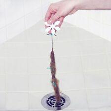 2X DRAIN WIG DrainWig Bathroom/Shower Chain Cleaner Hair Catcher Durable