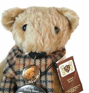 "House of Nisbet Teddy Bear 15"" Aloysius Bully Patches 80th Anniversary Lt Ed"