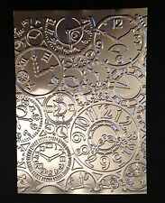 Steampunk Clocks - Embossed Stamping Foil Panels (Silver)