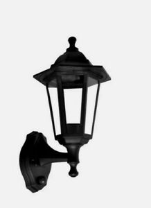 +LED Black Traditional Coach House Outside Lantern Hanging Post Top Wall 3/21