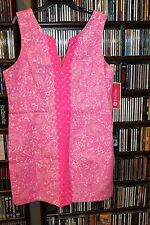 Lilly Pulitzer  Target Pink Shift Dress Sleeveless See Ya Later NEW  18 (bin118)