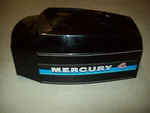 Ca. 1980 4hp Mercury Outboard Motor Top Cowl Very Nice