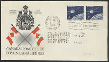 1966 #445 Alouette II FDC, CP Presentation Cachet, Letter to South Africa