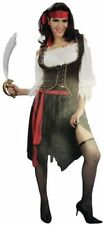 Adult Women Deluxe Pirate Wench Red Belt Costume Set One Size Halloween New