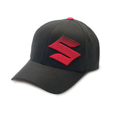 "Suzuki 3D ""S"" Cap - Size Large/X-Large - Black w/ Red Logo - Brand New"