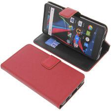 Custodia Per Archos Diamond 2 Plus Book-Style Protettiva Cellulare a Libro Rosso