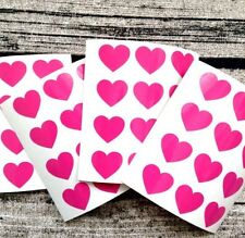 Pink heart decal stickers