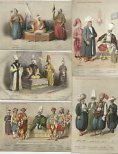 TURKEY OTTOMAN COSTUMES COMPLETE SET OF 25 DIFFERENT  PPC HISTORICAL DOCUMENT