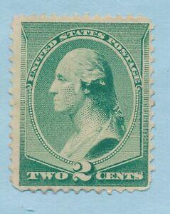 USA FINE-VERY FINE SOUND MINT NO GUM SCOTT # 213 GREEN GEORGE WAHINGTON STAMP