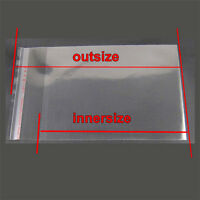 Plastic OPP Clear bags Poly Self Adhesive bags bag Pack for cloth/jewelry/Gifts
