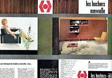 PUBLICITE ADVERTISING 126  1962  meubles éléments (2p) les Huchers-Minvielle
