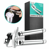 Manual Deluxe Can Opener Portable Grips Chef Stainless Steel Blades - US Seller