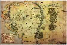 LOTR Map of Middle-earth Poster Print 10x15 Warner Brothers NEW Hobbit
