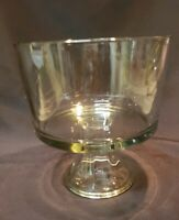 """Clear Glass 8 3/4 """"  Footed Ice Cream Pudding Bowl"""