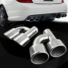 For 2008-2014 Mercedes-Benz C300/C350/C63 AMG Stainless Exhaust Muffler Tip