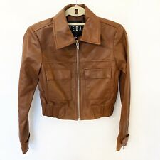 Veda Saddle Brown Lamb Leather Jacket Size L New $998