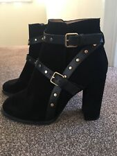 Topshop Suede Studded Ankle Boots Size 39