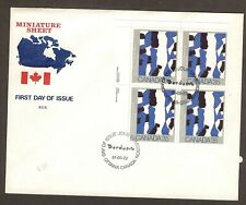 CANADA FIRST DAY COVER - 1981 - PLATE BLOCK - CANADIAN PAINTER - BORDUAS