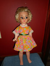 "19"" Sleepy Eye Doll Jointed Arms Legs P.M. Sales Inc 1966 Hard Plastic Girl Doll"