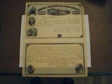 Virginia & Tennessee Railroad Company Unissued Stock Certificate 1880's Certific