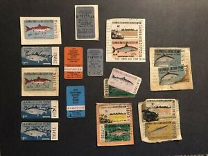 VINTAGE FISHING LICENSES