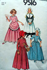 Sewing Patterns  Simplicity 9516  Girls' Costumes Size 14