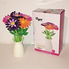 Writing Ballpoint Pens Flower Set with Vase Bouquet Daisy Novelty Gift Desktop
