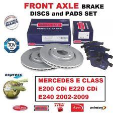 MERCEDES SALOON W211 E200 E220 2002-2009 REAR 2 BRAKE DISCS AND PADS SET NEW
