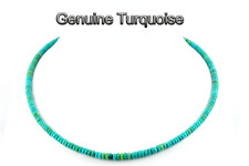 9GN-028 Finely Made Real Genuine Natural Turquoise Gems New Choker Necklace
