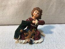 Boyds Bear Yesterdays Child Dollstone Faith Christmas Morning Figurine 3593