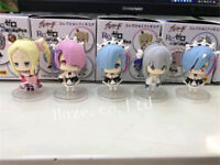 5Pcs/Set Re:Life in a Different World From Zero Ram Rem PVC Keychain Decor