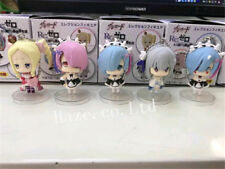 5Pcs/Set Re:Life in a Different World From Zero Ram Rem PVC Figure Keychain