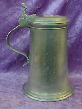Rare original alte Zinnkanne um 1750 Kaufbeuren